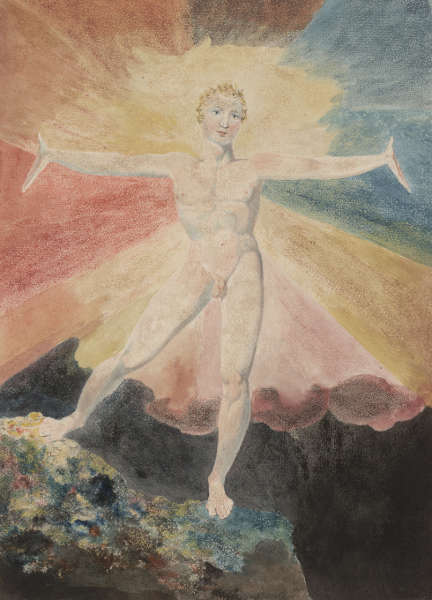 William Blake, Albion Rose, um 1793, Farbiger Kupferstich, 25 x 21,1 cm (Courtesy of the Huntington Art Collections)