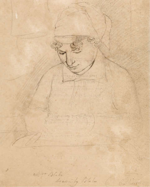 William Blake, Catherine Blake, 1805, Grafit auf Papier, 28,6 x 22,1 cm (Tate. Bequeathed by Miss Alice G.E. Carthew 1940)