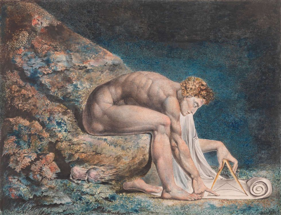 William Blake, Newton, 1795–um 1805 (Tate)