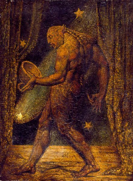 William Blake, The Ghost of a Flea, um 1819, Grafit auf Papier, 20 x 15,3 cm (Privatbesitz)