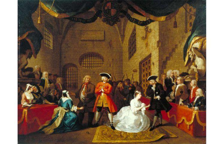 William Hogarth, A Scene from 'The Beggar's Opera' VI, 1731 (Tate, London)