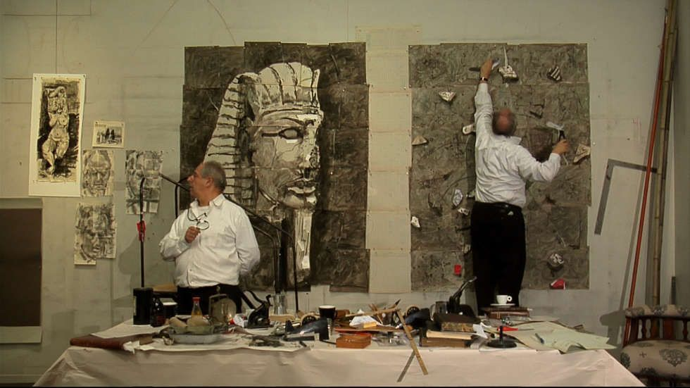 William Kentridge, Carnets d'Égypte: Acquire (Drawing Lesson 40), 2010, Video, Farbe, Ton, 4.34 Minuten, Courtesy des Künstlers, Johannesburg, Foto: Standbild © William Kentridge, 2018