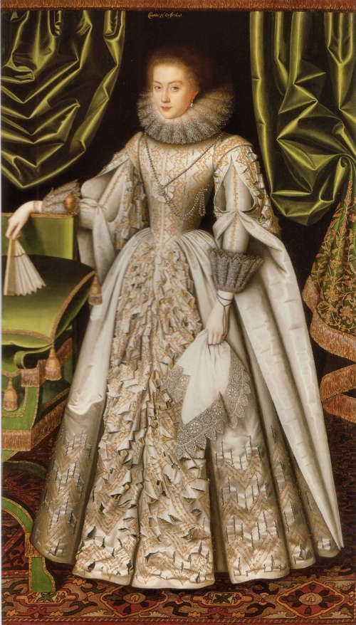 William Larkin, Porträt von Diana Cecil, spätere Countess of Oxford, um 1614−1618, Öl auf Leinwand (Suffolk Collection, Kenwood House, Courtesy of the English Heritage)