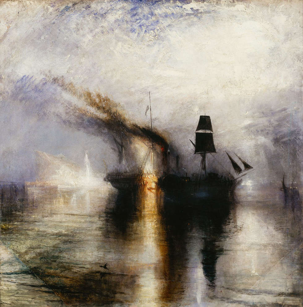 William Turner, Peace - Burial at Sea, Exhibited 1842 (© Tate: Accepted by the nation as part of the Turner Bequest 1856. Foto © Tate, London 2018)