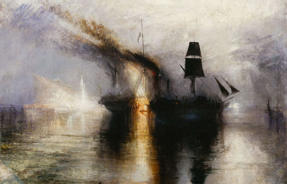 William Turner, Peace - Burial at Sea, Detail, Exhibited 1842 (© Tate: Accepted by the nation as part of the Turner Bequest 1856. Foto © Tate, London 2018)