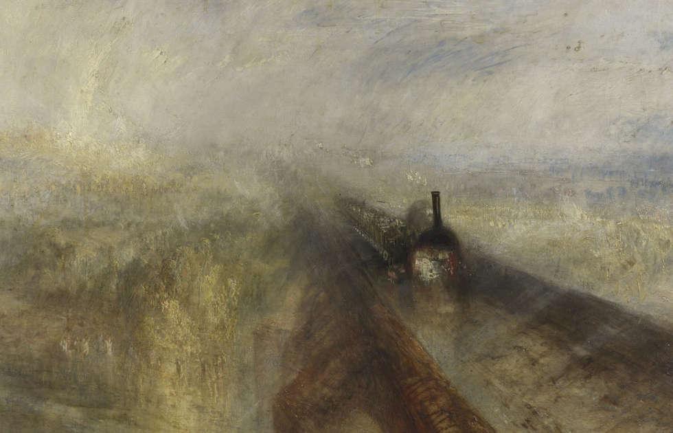 William Turner, Regen, Dampf und Geschwindigkeit – die Great Western Railway [Rain, Steam and Speed - the Great Western Railway], Detail, ausgestellt 1844 (The National Gallery, London © The National Gallery, London)