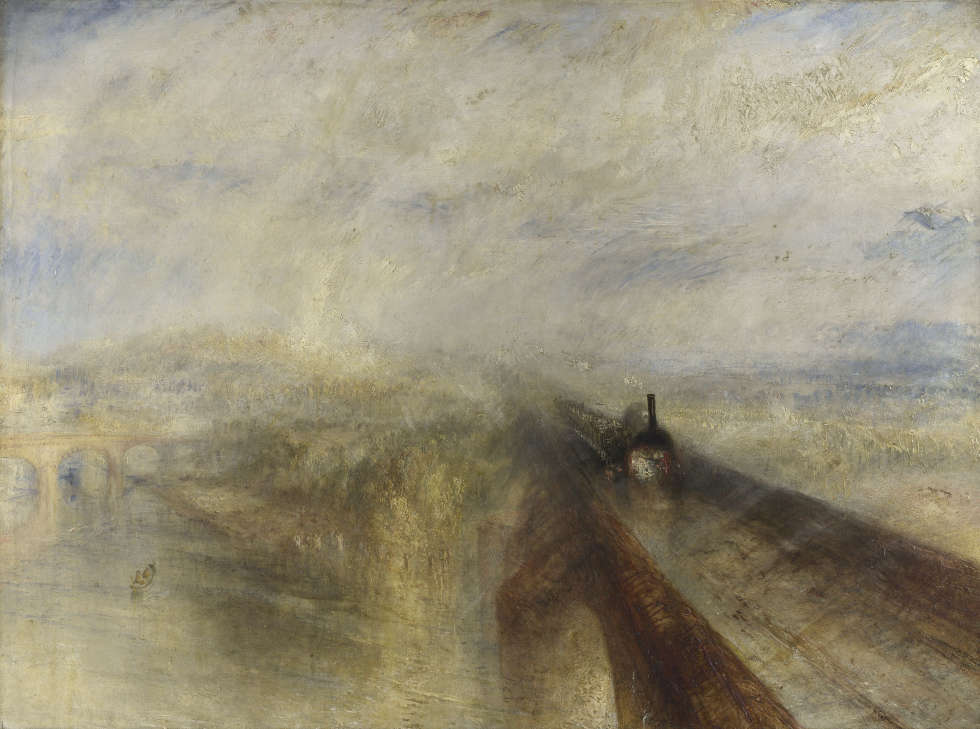 William Turner, Regen, Dampf und Geschwindigkeit – die Great Western Railway [Rain, Steam and Speed - the Great Western Railway], ausgestellt 1844 (The National Gallery, London © The National Gallery, London)