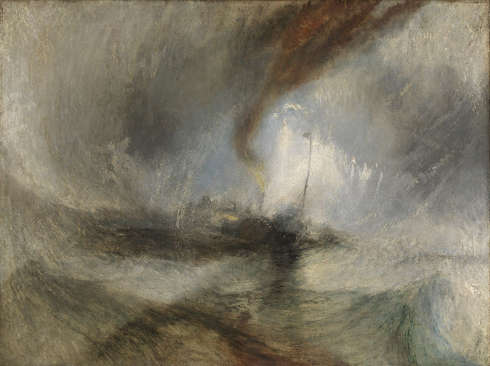 Joseph Mallord William Turner, Snow Storm: Steam-Boat off a Harbour's Mouth, Exhibited 1842 (© Tate: Accepted by the nation as part of the Turner Bequest 1856, Photo ©Tate, 2019)