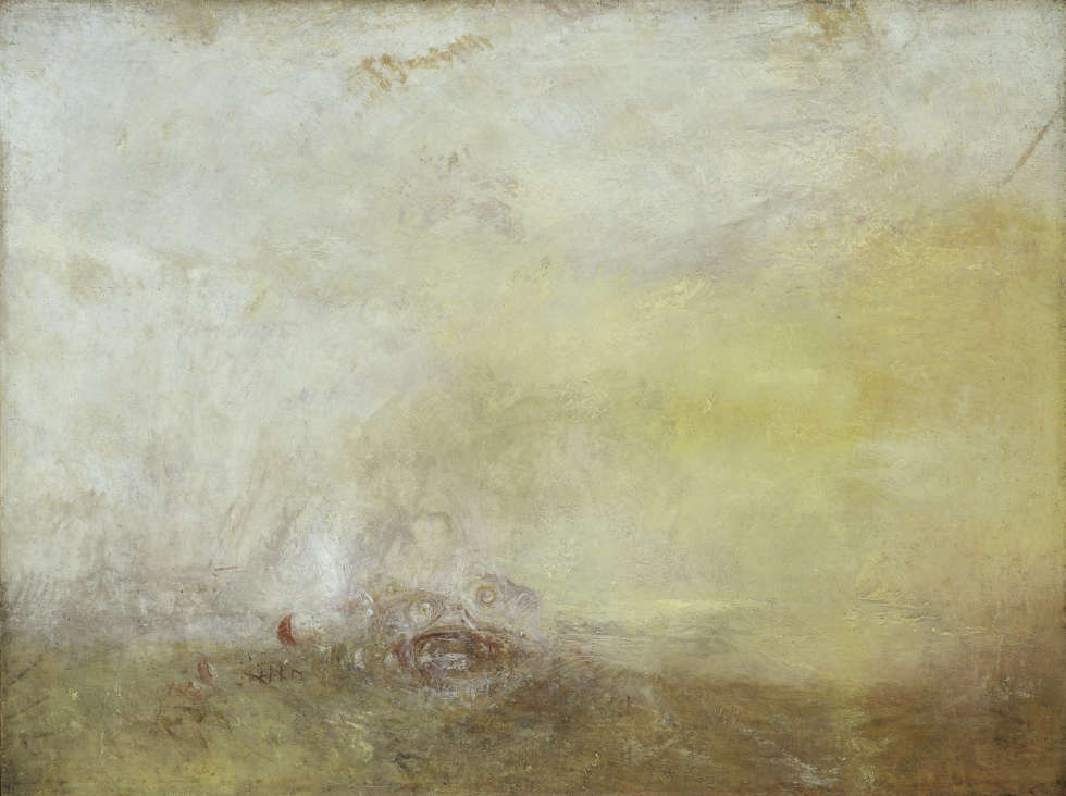 Joseph Mallord William Turner, Sunrise with Sea Monsters, um 1845 (© Tate: Accepted by the nation as part of the Turner Bequest 1856 Photo ©Tate, 2019)