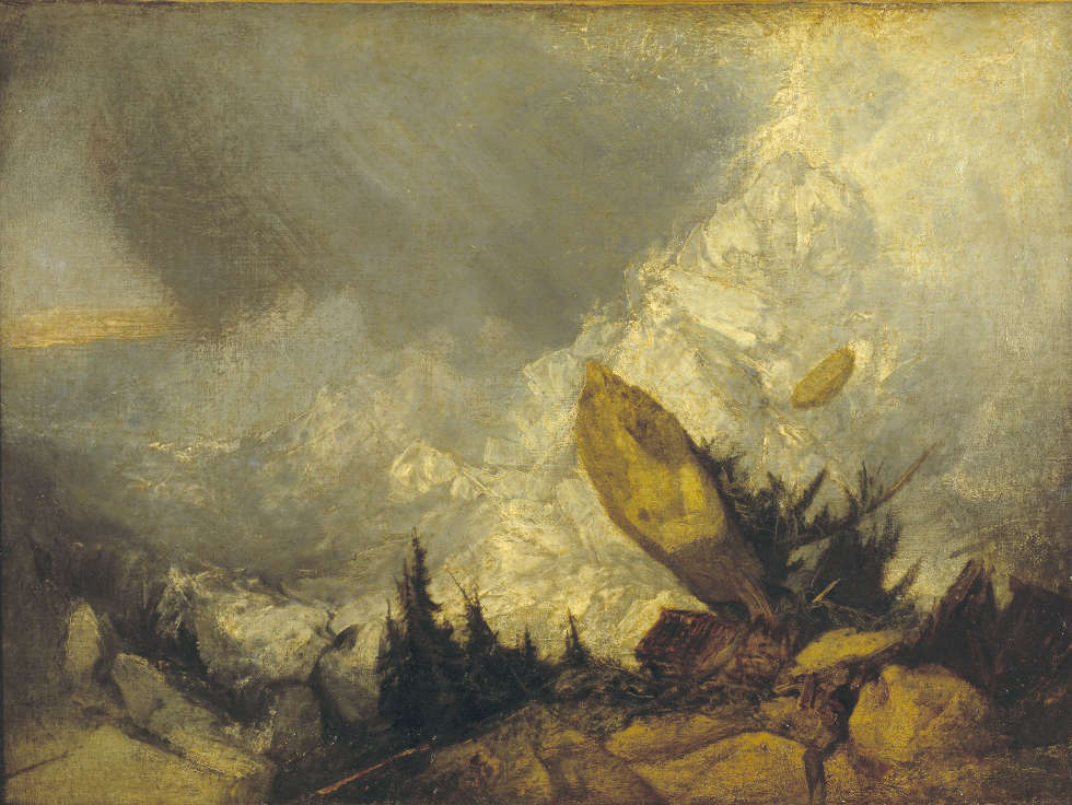 Joseph Mallord William Turner, The Fall of an Avalanche in the Grisons, Exhibited 1810 (© Tate: Accepted by the nation as part of the Turner Bequest 1856 Photo ©Tate, 2019)