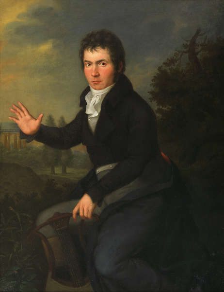 Willibrord Joseph Mähler, Porträt Ludwig van Beethoven, um 1804/05, Öl auf Leinwand (Wien Museum © Wien Museum)