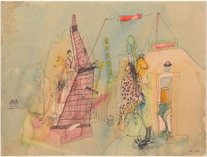 Wols, Ohne Titel, 1939, Tusche und Aquarell auf Papier, 23,5 x 31 cm (Centre Pompidou, Paris)
