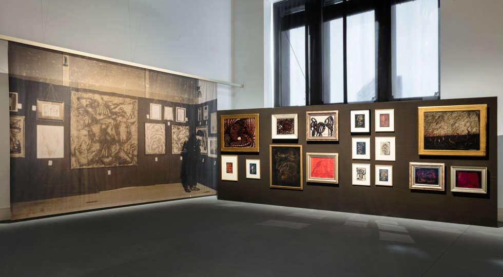 Yayoi Kusama, 1952, Installationsansicht Gropus Bau 2021 (c) Foto: Luca Girardini