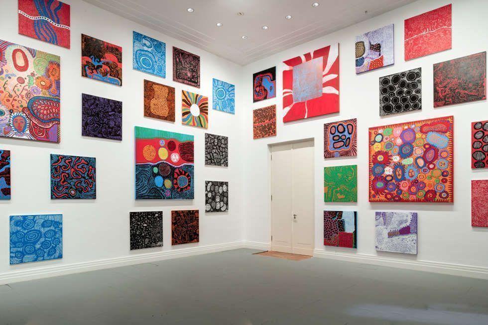 Yayoi Kusama, Malerei, Installationsansicht Gropius Bau 2021