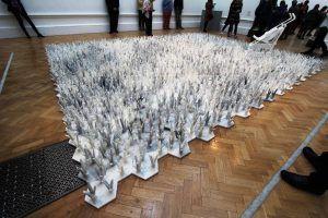 Ai Weiwei, Cao, 2014, Marmor, 770 Stücke, je 20 x 22 x 25 cm, Ausstellungsansicht Royal Academy, London 2015, Foto: Alexandra Matzner.