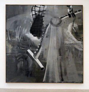 Albert Oehlen, Interior, 1998, Öl auf Leinwand, 238 x 238 cm, Privatsammlung, Courtesy Galerie Max Hetzler, Berlin, Installationsaufnahme: Alexandra Matzner.