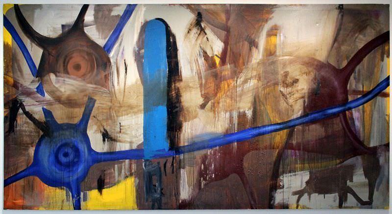Oehlen_A, »ohne Titel«, 1988 blau
