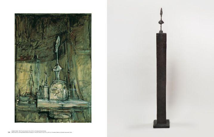 Alberto Giacometti, Der Ursprung des Raumes (Hatje Cantz), S. 120-121 (Atelier, 1950 und Kleine Büste auf Säule, um 1951-52).