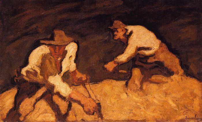 Albin Egger-Lienz, Die Schnitter, 1922, 82 x 138,4 cm © Leopold Museum, Wien.