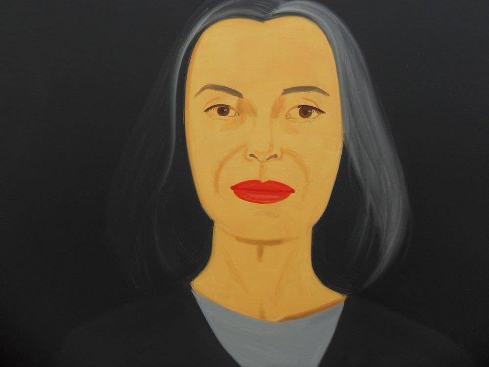 Alex Katz, Ada in the Dark, Detail (2000, Essl Museum), Öl auf Leinwand, 122 x 183 cm; Foto: Alexandra Matzner
