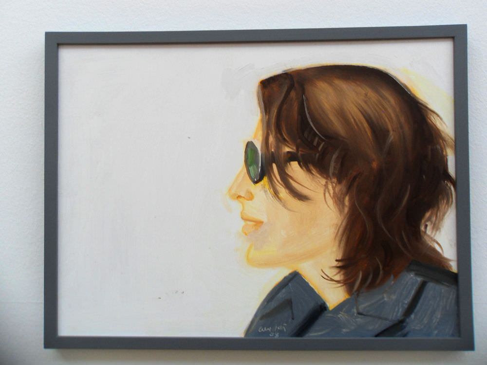 Alex Katz, Sharon (2008 Essl Museum), Öl auf Leinwand, 122 x 168 cm; Foto: Alexandra Matzner