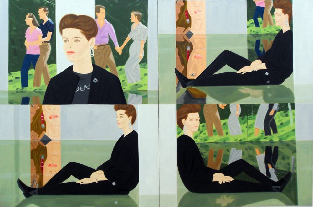 Alex Katz, Darinka (1986, Essl Museum), Öl auf Leinwand, 244 x 366 cm (2-teilig); Foto: Alexandra Matzner