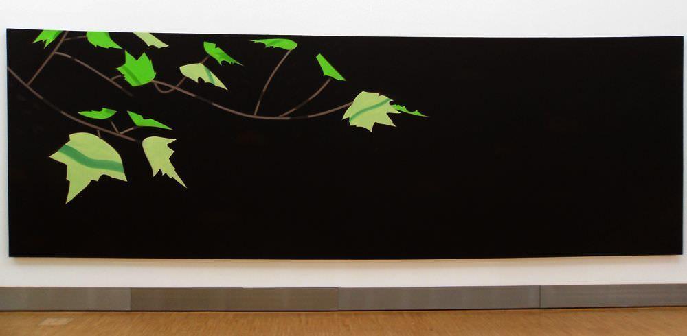Alex Katz, Black Brook 8 (1990, Essl Museum), Öl auf Leinwand, 213 x 645 cm; Foto: Alexandra Matzner