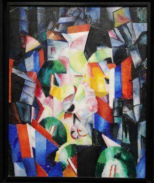 Alexandra Exter, Die Stadt in der Nacht (Funduklejew-Straße), 1913, Öl auf Leinwand, 88 x 71 cm (Sankt Petersburg, Staatliches Russisches Museum), Foto: Alexandra Matzner.