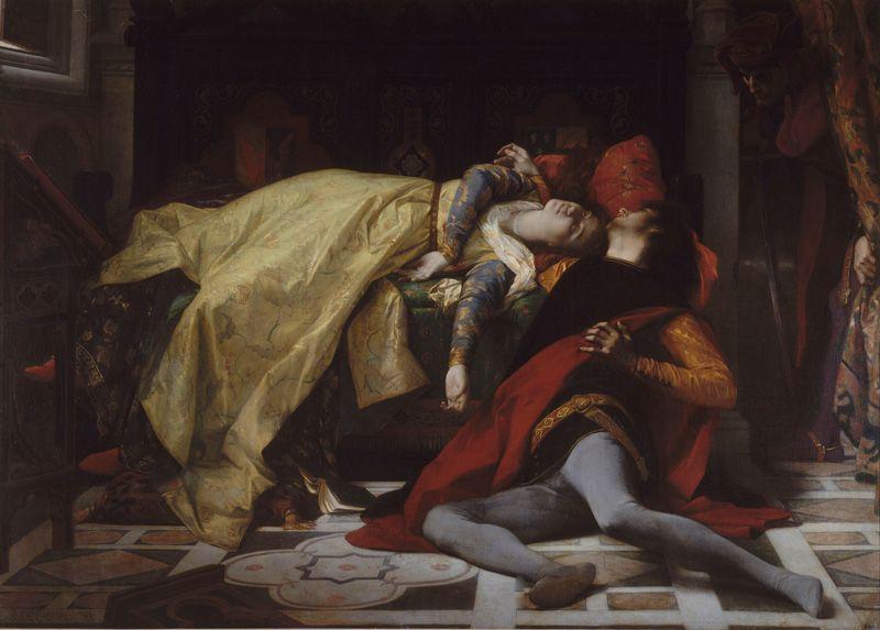 Alexandre Cabanel, Tod der Francesca von Rimini und des Paolo Malatesta, 1870, Öl auf Leinwand (Musée d'Orsay, Paris).