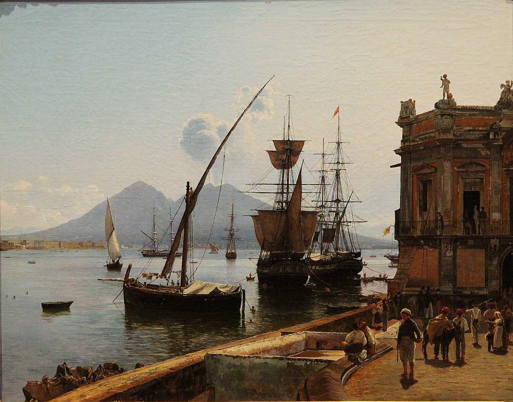 Rudolf von Alt, Der Hafen von Neapel mit Vesuv, 1836, Öl auf Leinwand, 53 × 66,5 cm, Bez. u. M.: Rudolph Alt / 1836 (Belvedere, Wien, Inv.-Nr. 4382)