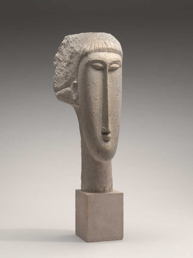 Amedeo Modigliani, Kopf einer Frau, 1910/1911, Kalkstein, 65,2 x 19 x 24,8 cm (Chester Dale Collection, Washington National Gallery of Art, Washington, 1963.10.241)