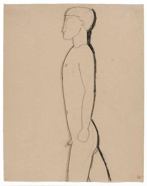 Amedeo Modigliani, Mann im Profil, 1913 (Privat)