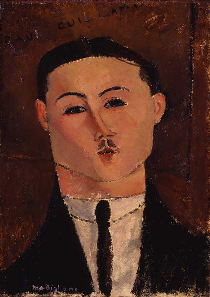 Amedeo Modigliani, Paul Guillaume, 1916, Öl auf Karton auf Holz aufgezogen, 53 x 37 cm (The Nahmad Collection)