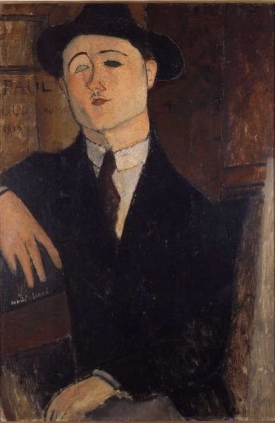 Amedeo Modigliani, Porträt von Paul Guillaume, 1916, Öl auf Leinwand, 81 x 54 cm (Museo del Novecento, Mailand)