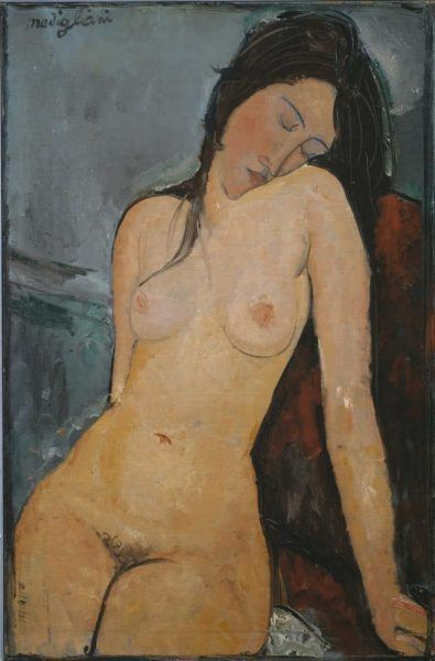 Amedeo Modigliani, Weiblicher Akt, 1916, Öl auf Leinwand, 92 × 60 cm (Courtauld Institute Galleries, London)