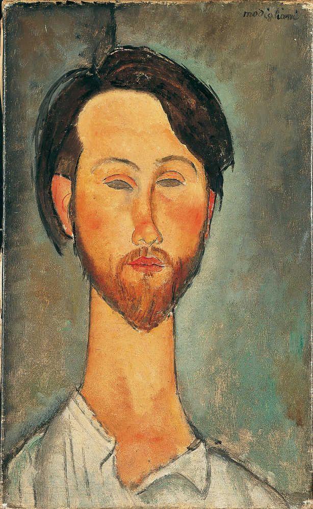 Amedeo Modigliani, Porträt von Zborowski, 1916, Öl auf Leinwand, 46 x 27 cm, Signiert oben rechts (Pinacothèque de Paris)