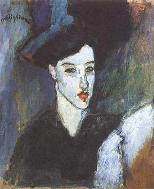 Amedeo Modigliani, Die Jüdin, um 1908 (Privatsammlung)