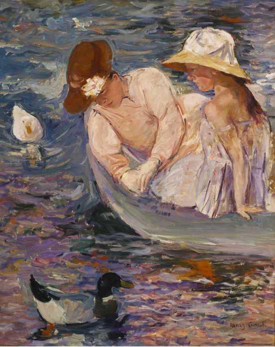 Mary Cassatt, Sommerzeit, 1894, Öl/Lw, 100,6 x 81,3 cm (Terra Foundation für American Art, Chicago. Daniel J. Terra Collection, 1988.25)