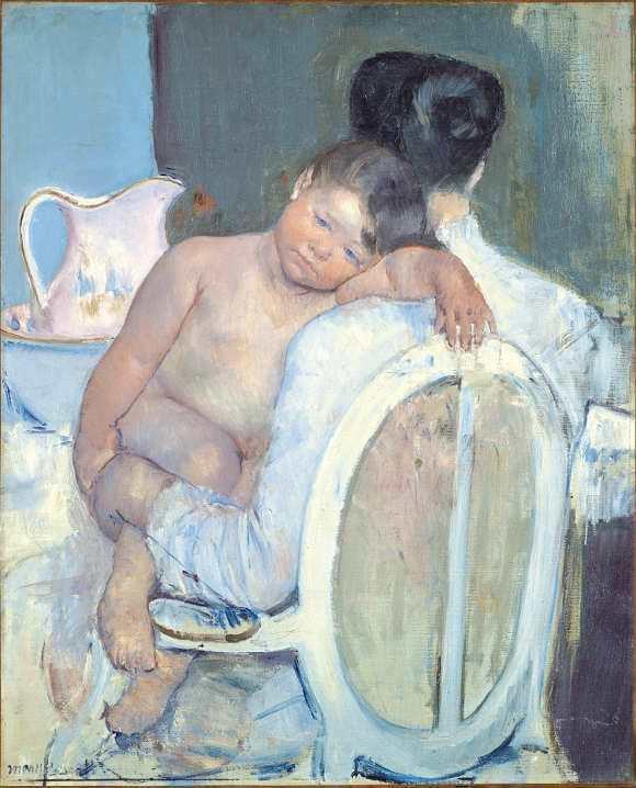 Mary Cassatt, Frau sitzt mit einem Kind in ihren Armen, 1890, Öl auf Leinwand, 81 x 65,5 cm (Museo de Bellas Artes de Bilbao, 82/25)
