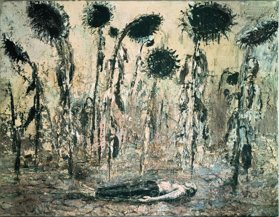 Anselm Kiefer, Die Orden der Nacht, 1996, Acryl, Emulsion und Schellack auf Leinwand, 356 x 463 cm (Seattle Art Museum) Foto: © Atelier Anselm Kiefer.
