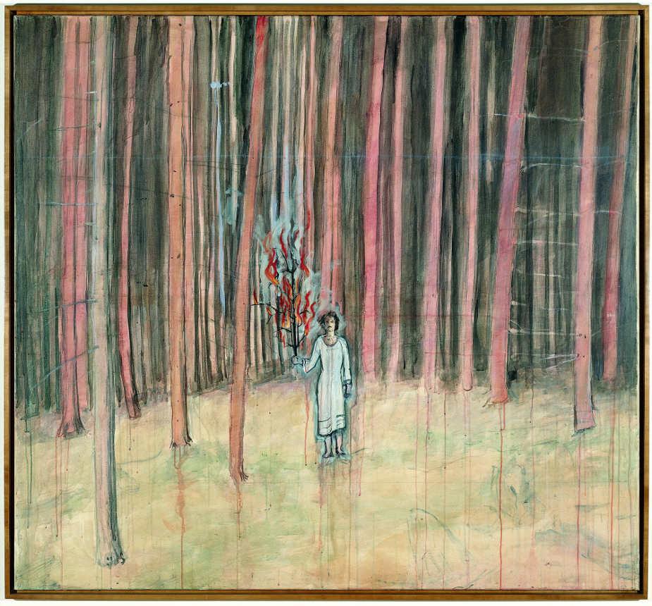Anselm Kiefer, Mann im Wald, 1971, 174 x 189 cm, Acryl auf Baumwolle (Privatsammlung, San Francisco) Foto: © Ian Reeves.