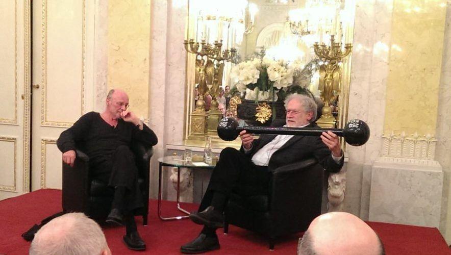 Anselm Kiefer und Anton Zeilinger in der Albertina, 18. März 2016, Foto: Alexandra Matzner.