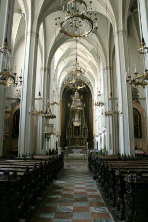 Wiener Augustinerkirche, Einblick, Foto: Alexandra Matzner.