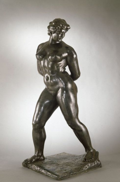 Aristide Maillol, Action enchaînée, Monument für Blanqui, modelliert 1905/06, gegossen 1969, Höhe 119,4 (Hirshhorn Museum and Sculpture Garden, Washington)