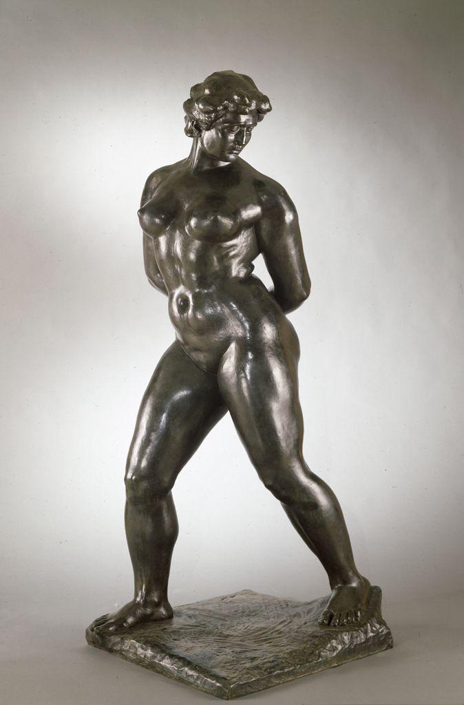 Aristide Maillol, Action enchaînée, Monument für Blanqui, modelliert 1905/06, gegossen 1969, Höhe 119,4 (Hirshhorn Museum and Sculpture Garden, Washington)