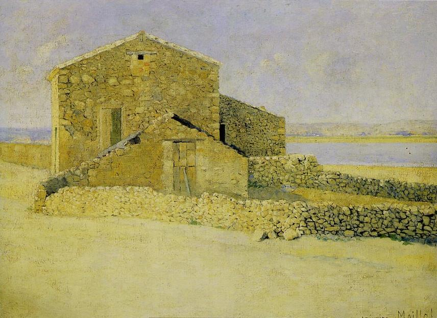 Aristide Maillol, Haus in Roussillon, 1887, Öl auf Leinwand (Musée d'Orsay)