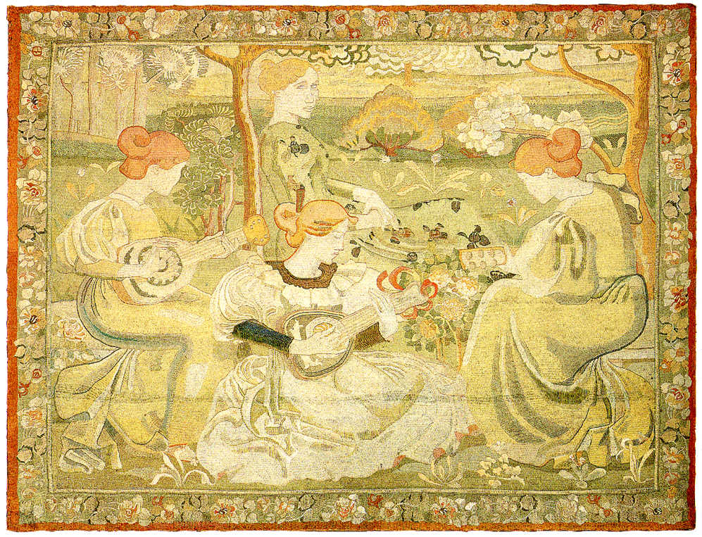 Aristide Maillol, Konzert der Frauen, 1895–1902, Tapisserie gestickt