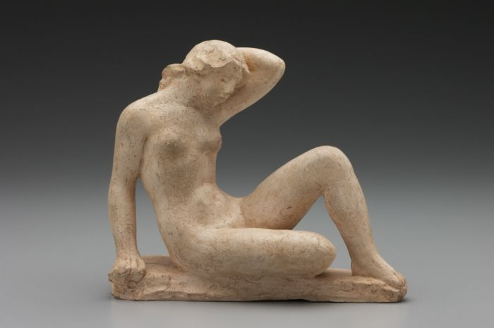 Aristide Maillol, Sitzender Akt, Studie für La Méditerranée, 1902, Terrakotta (New Haven, Connecticut, Yale University Art Gallery)