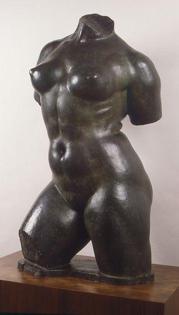Aristide Maillol, Torso Action enchaînée, modelliert 1905, gegossen 1929, Höhe 119,4 (Metropolitan Museum, New York)