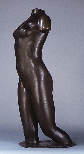 Aristide Maillol, Torso Île de France, 1907–1921, Bronze, 107.6 x 32.4 cm (Metropolitan Museum, New York)